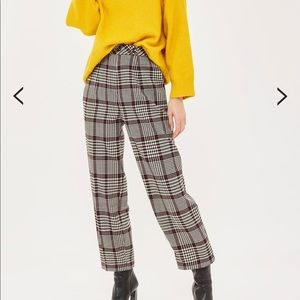 TopShop check peg trousers size US 10 NEW